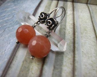 Splendor,sunstone earrings