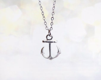 anchor dainty necklace - nautical jewelry / gift fo her under 20usd / spring summer jewelry