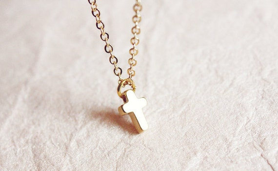 dainty cross bracelet - golden delicate minimalist  jewelry, gift for her under 15 usd
