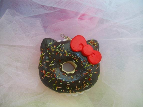 Hello Kitty Chocolate Doughnut Squishy