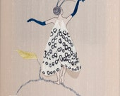 Hand embroidery pattern. Butterfly Girl. Hand Embroidered. Stumpwork instructions & pattern. Embroidery.