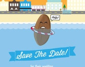 Quirky Save The Date Cards