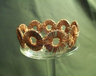 Copper Wire and Washer Bracelet