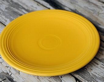 Vintage Fiestaware 13 inch chop plate in yellow
