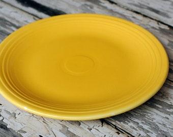 Vintage Yellow Fiestaware 15 inch Chop plate