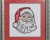 finished, christmas cross stitch.