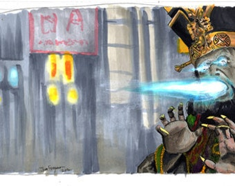 """Big Trouble in Little China - Lo Pan 5""""x11"""" Poster Print"""