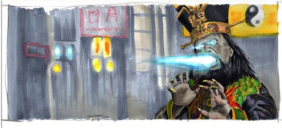 Big Trouble in Little China - Lo Pan Print