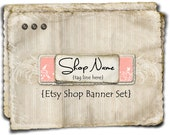 Etsy Shop Banner - Shabby Pink Layers set - banners, profile picture, avatar, reserved & special order