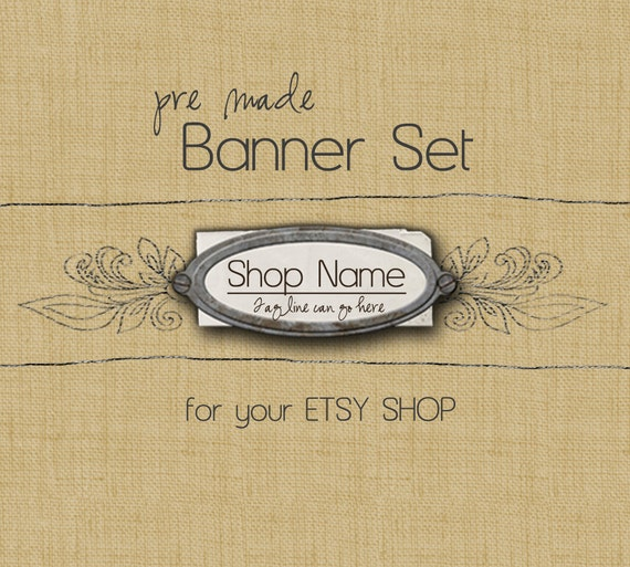 Etsy Shop Banner Set - Addison design - banners, profile picture, avatar, reserved & special order