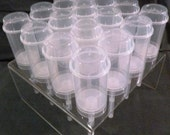 32 ct. Push-Up Pop Containers with Acrylic Stand that holds 16 Containers