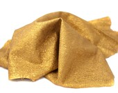RESERVED to Valeria - gold Leather hide crumpled aluminum sparkly - 10 ft square feet cod177