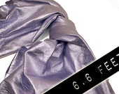 RESERVED to Valeria - Leather hide silver matt lambskin 6.6 ft square feet COD228