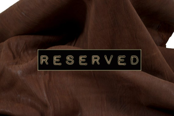 RESERVED to Aphrodite - Lambskin brown distressed soft Leather - 7 ft square feet - COD127