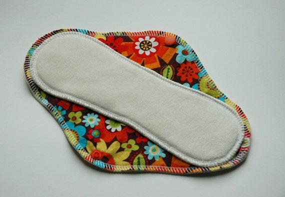 Wool Backed Bamboo Cloth Pad / Mama Cloth - Moderate