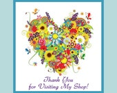 Etsy Shop Thank You  Badge - Spring Pastel Colors