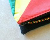 Fold over zip clutchie - Rasta Rays