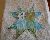 Quilt Star Blues and Greens