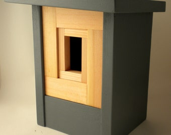 Modern Craftsman Birdhouse- The Camera Shutter