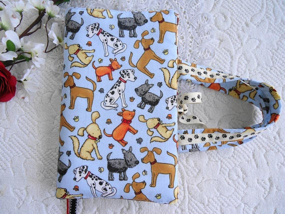 Adorable Dog and Pawprint Dalmation Scotty Dog and Mutt Dog Lover Handmade Bible or Book Cover