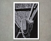 Tied Up - detail of an old fishing boat 8x12