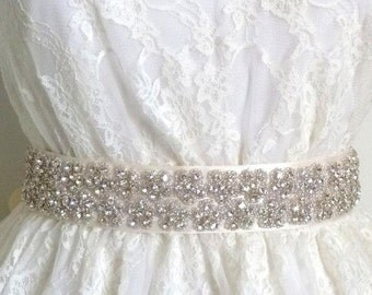 Floral Bridal crystal belt, floral rhinestone sash, crystal bridal sash, bridal belt, wedding belt, wedding sash, jeweled sash