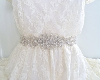 USA SELLER - Beaded Bridal crystal belt, wedding belt, rhinestone sash, bridal sash, bridal belt, wedding sash, bridesmaid sash, crystal