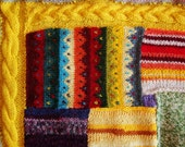 Wish Blanket - OOAK hand knit blanket to be knit in double bed size in your choice of colors and patterns
