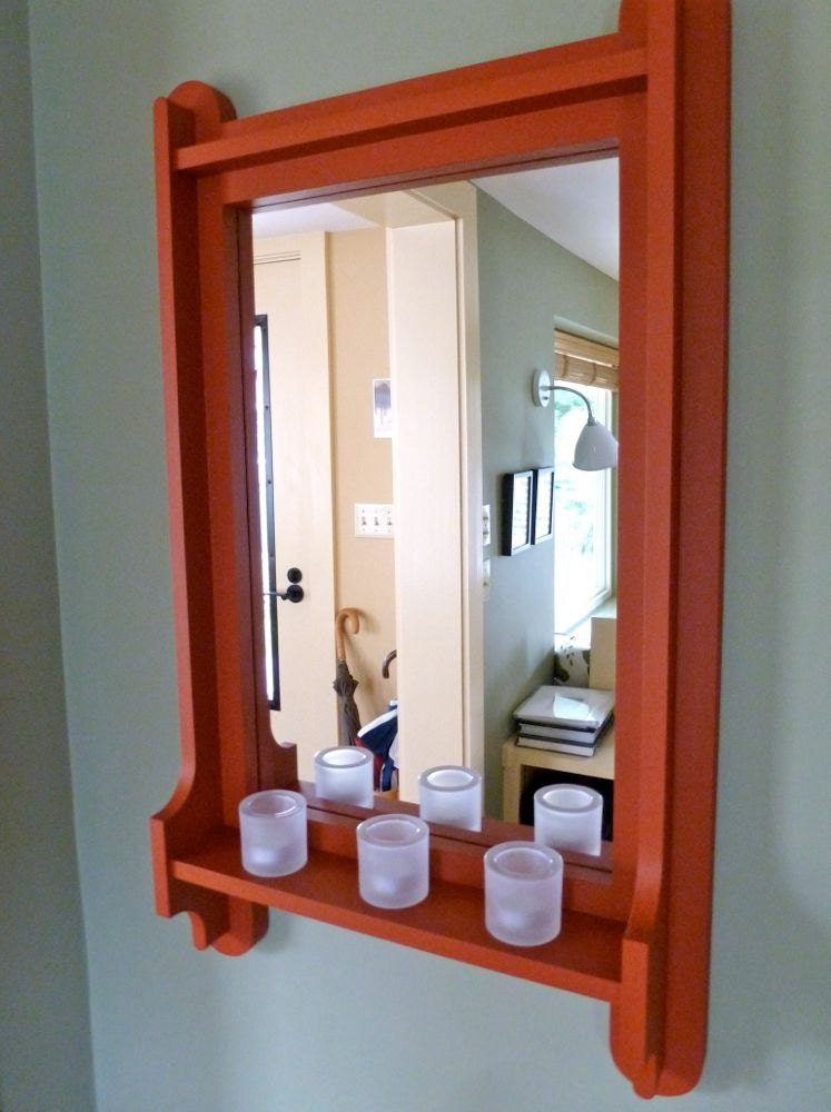 1210 hall mirror with shelf for Hallway mirror and shelf
