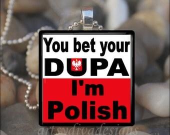BET YOUR DUPA Polish Pride Dyngus Day Dingus Love Glass Tile Pendant Necklace Keyring