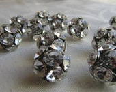 Disco Ball Beads, 14mm Crystal - One Dozen - DIY Bride's  Maids Earrings ((recycled))