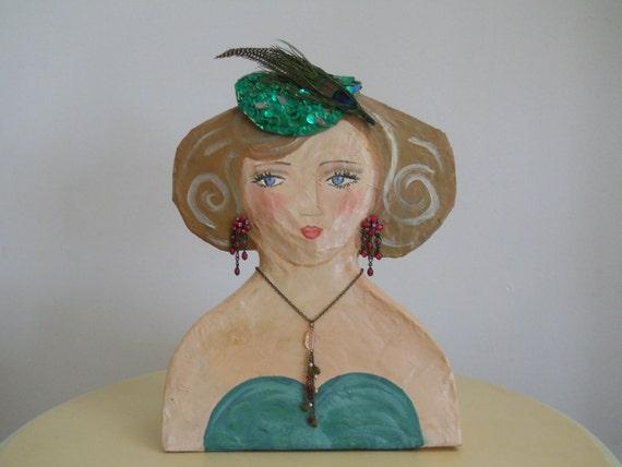 Vintage inspired Doll Bust