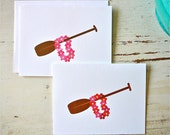 Outrigger Blank Notecards - 1 Design - Set of 8 - Personalization Available