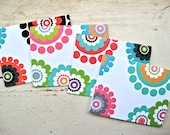 Bohemian Dots Blank Notecards - 2 Color Versions - Set of 8 - Personalization Available