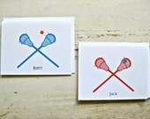 Custom for Patricia - Lacrosse and Basketball Blank Notecards