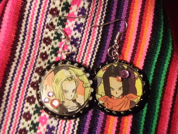 Android 17 and 18 Earrings