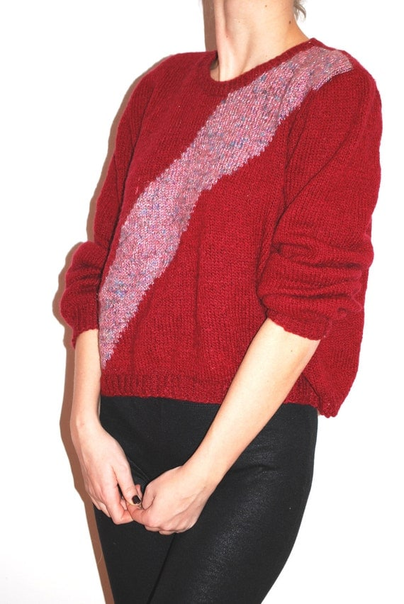 20% SALE Vintage scarlet knit sweater size M