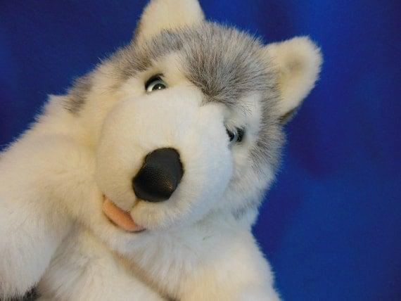 PUPPY Dog PUPPET *  Wolf * Hand Puppet * Best Friend Pet