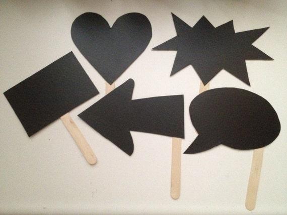 5 Cardstock Mini Chalkboards