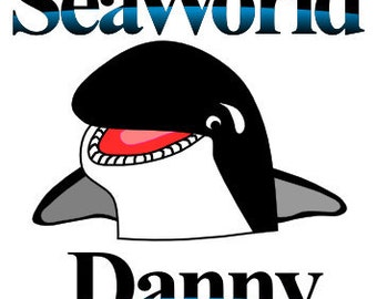 Sea World Personalized Custom Iron on Transfer Decal(iron on transfer, not digital download)