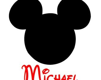 Mickey Personalized Custom Iron on Transfer Decal(iron on transfer, not digital download) Disney Iron On Matching Family vacation shirts
