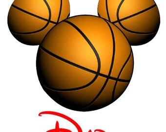 Disney TShirt Iron on Basketball Mickey Personalized Iron on Transfer Decal(iron on transfer, not digital download)