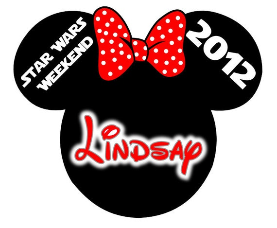 Disney TShirt Iron on Minnie Star Wars Weekend Personalized Iron on Transfer Decal(iron on transfer, not digital download)