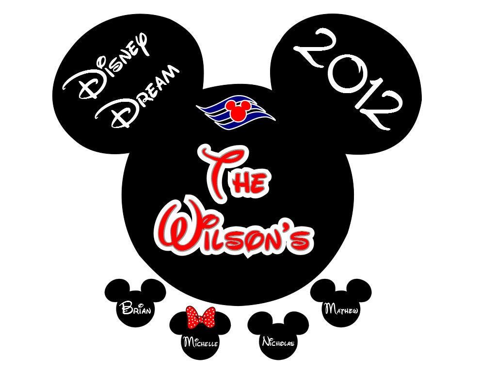 Disney Mickey Head Cruise Name Heads