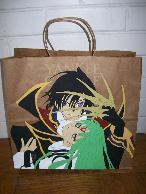 Anime Manga Gift Swag All Purpose Bag Code Geass Lelouch Zero C.C.