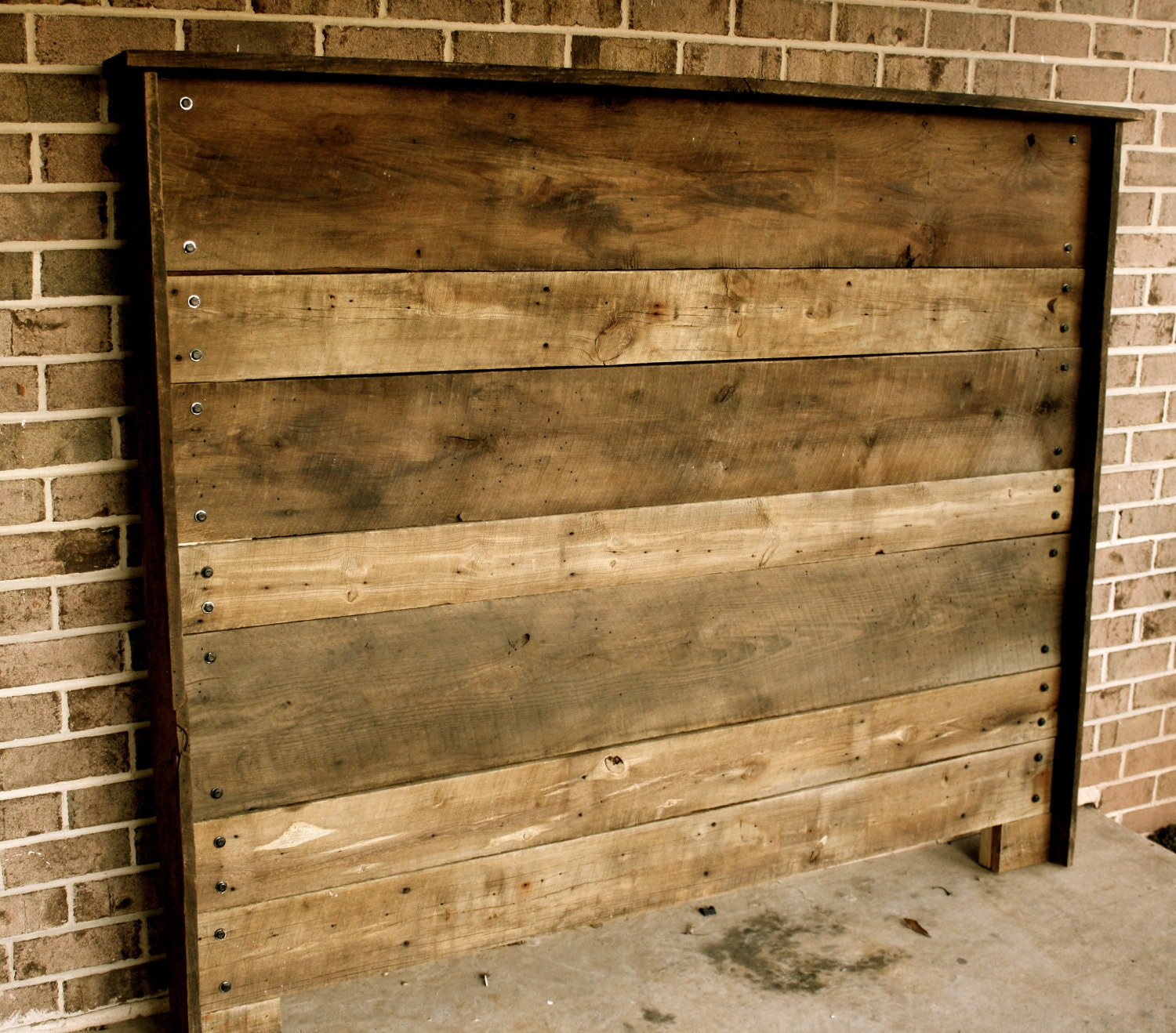 Upcycled Barn Wood Headboard