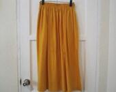 Great, Beautiful Flowy Mustard Yellow Long Skirt