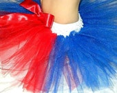 Patriotic Tutu for Girls, Fourth of July or Memorial Day Tutu Red White and Blue