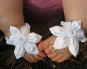 White Baby Barefoot Sandals
