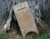 Early Americana Antique Wooden Washboard Rustic Scrub Board